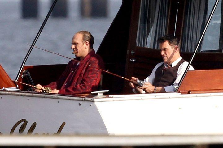 Hardy shot the fishing scene with co-star Matt Dillon in Louisiana.