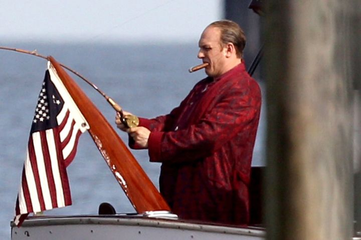 Another shot of Hardy as Capone.