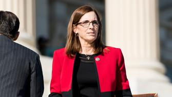 UNITED STATES - DECEMBER 1: Rep. Martha McSally, R-Ariz., walks down the House steps following a vote in the Capitol on Friday, Dec. 1, 2017. (Photo By Bill Clark/CQ Roll Call)