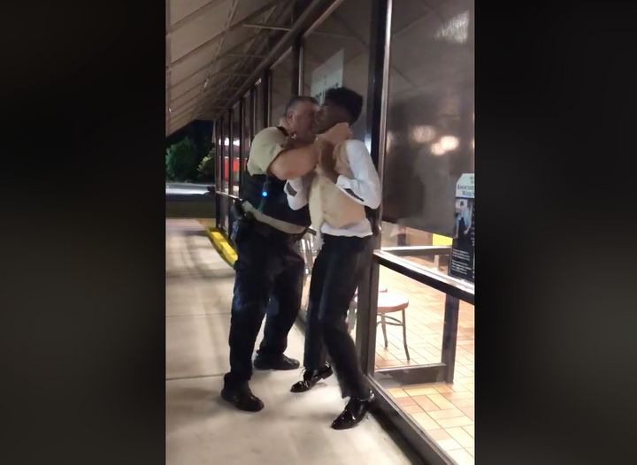 A verbal argument between Anthony Wall and Waffle House employees brought police to the scene, and then this happened.
