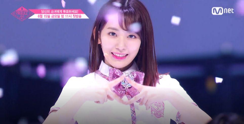'프로듀스48' 첫 센터가 공개됐다(동영상)