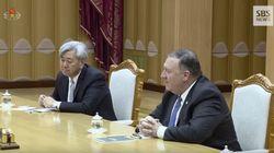 폼페이오와 함께 김정은과 회담한 은발 신사는 한국계 CIA