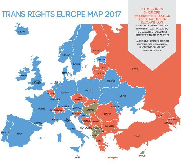 Zwangssterilisation von Transgender ist in vielen