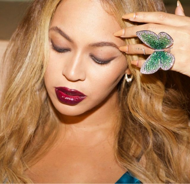 Beyoncé Gives Giant Butterfly Ring To The V&A