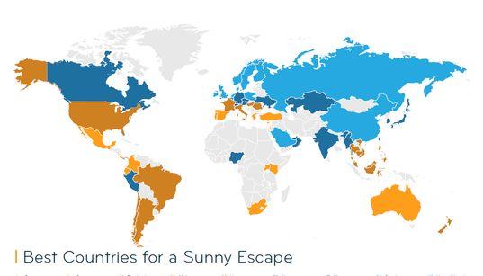 Στατιστική: Η Ελλάδα Νο1 προορισμός για μια ηλιόλουστη