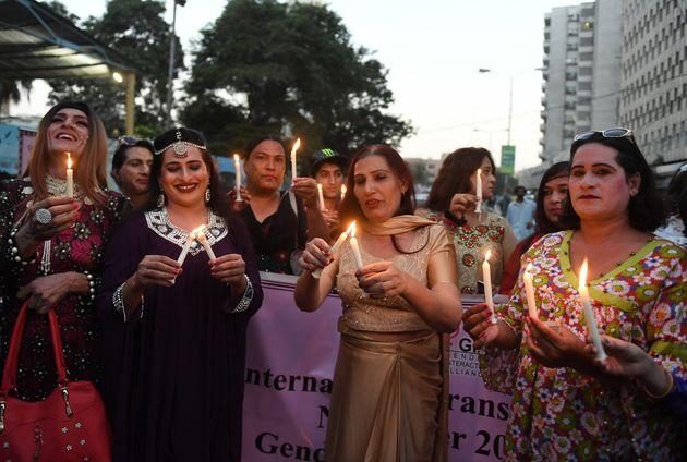Manifestation de personnes transgenres au Pakistan le 20 novembre