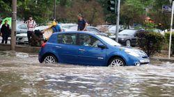 Θεσσαλονίκη:Στα 73 χιλιοστά το νερό που έπεσε στην καταιγίδα της