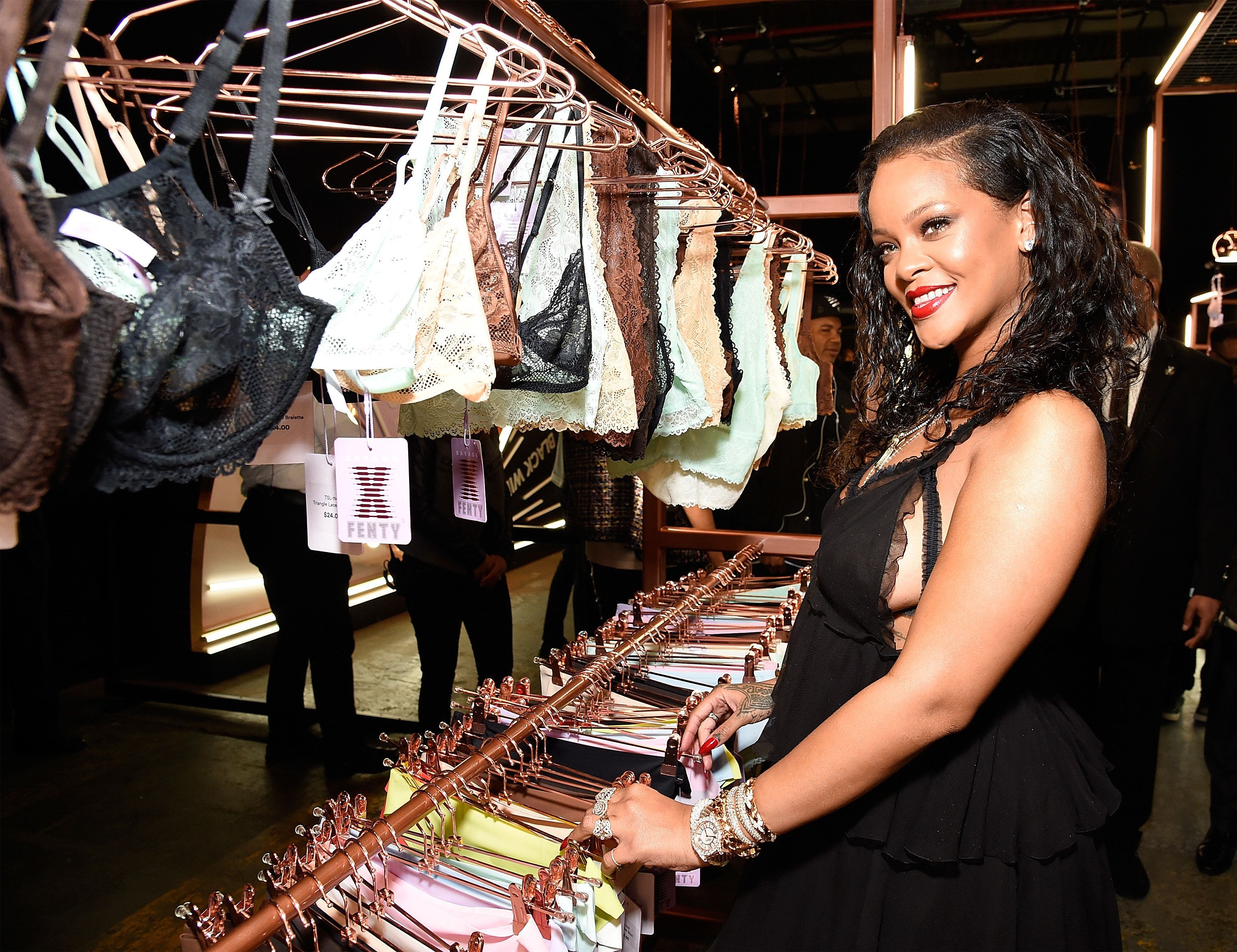 Rihanna at the launch of her new lingerie brand, Savage X Fenty, on May 10 in New York City.