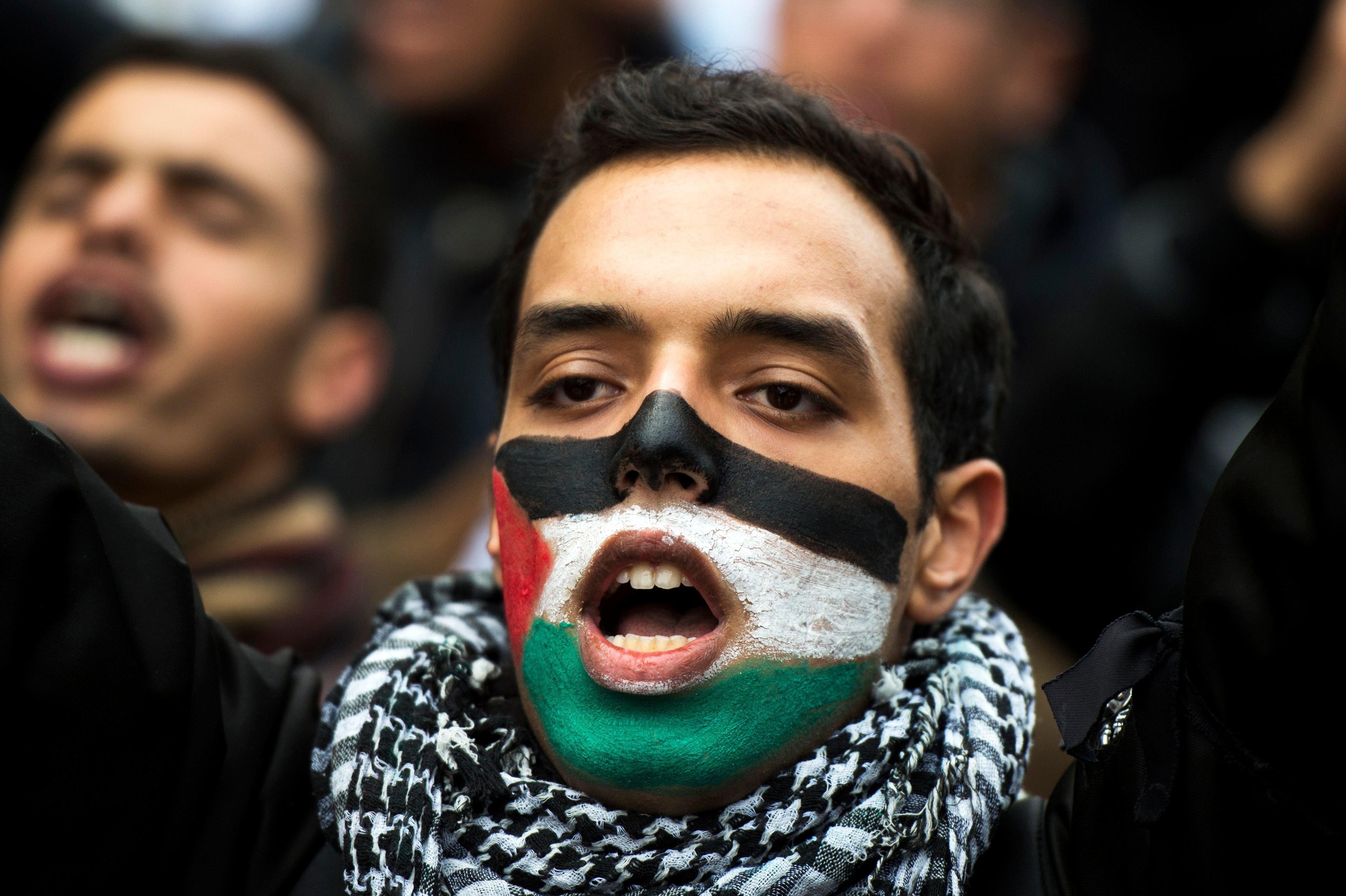 DIAPO/ Rabat : Grande marche de soutien à la Palestine