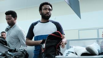 "ATLANTA Robbin' Season -- ""Crabs in a Barrel"" -- Season Two, Episode 11 (Airs Thursday, May 10, 10:00 p.m. e/p) Pictured: RJ Walker as Clark County, Donald Glover as Earnest Marks. CR: Guy D'Alema/FX"