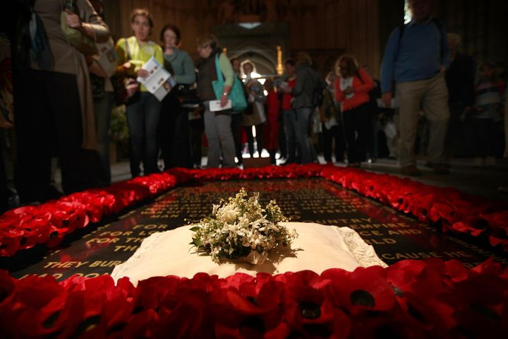 The bridal bouquet Kate held on her wedding day was placed on the Grave of the Unknown Warrior at Westminster Abbey.