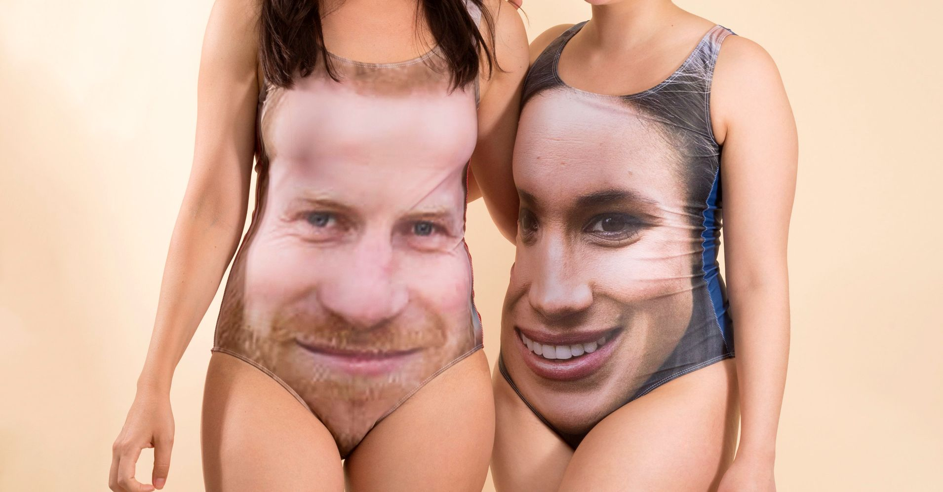 3922476f9c These Prince Harry And Meghan Markle Bathing Suits Are... Something Else |  HuffPost Life