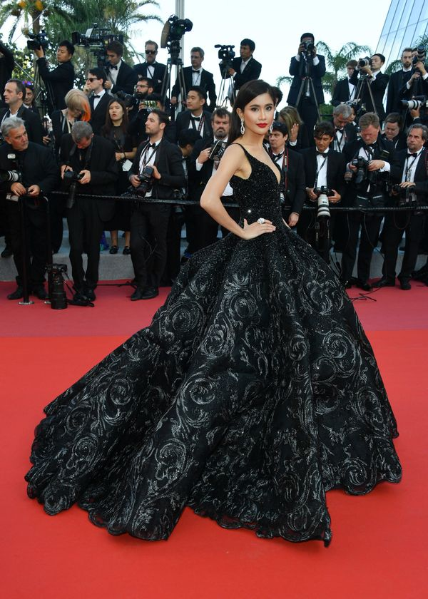 "In Michael Cinco Couture at the screening of ""Ash Is The Purest White (Jiang Hu Er Nv)."""
