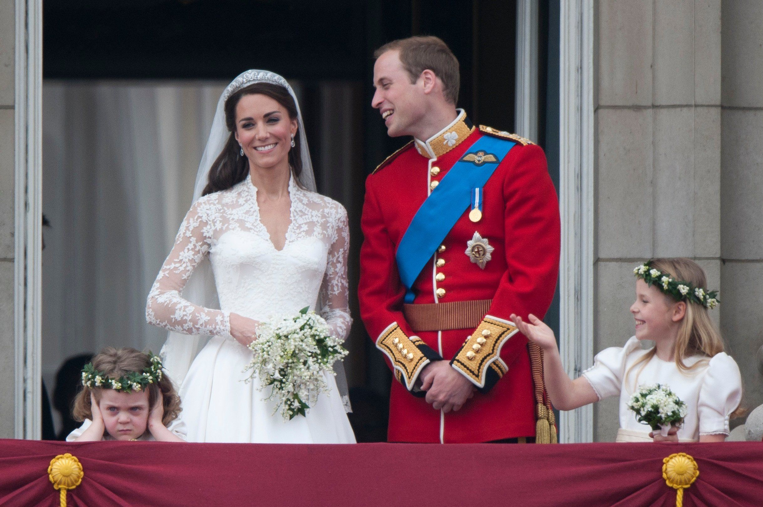 The Duke and Duchess of Cambridge at their 2011 wedding.