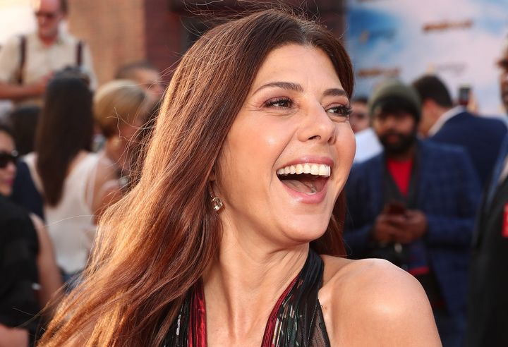 """Marisa Tomei at the """"Spider-Man: Homecoming"""" premiere in Hollywood."""