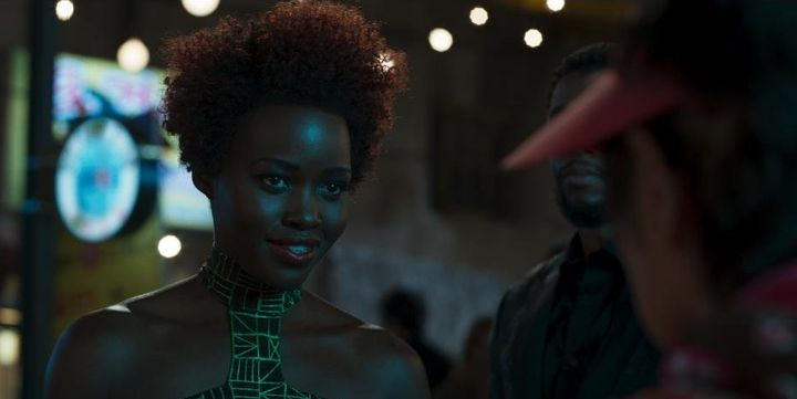 "Lupita Nyong'o as Nakia in ""Black Panther."""