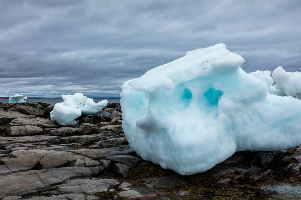 Gletscher und Polkappen auf der ganzen Welt – hier ein Eisberg in