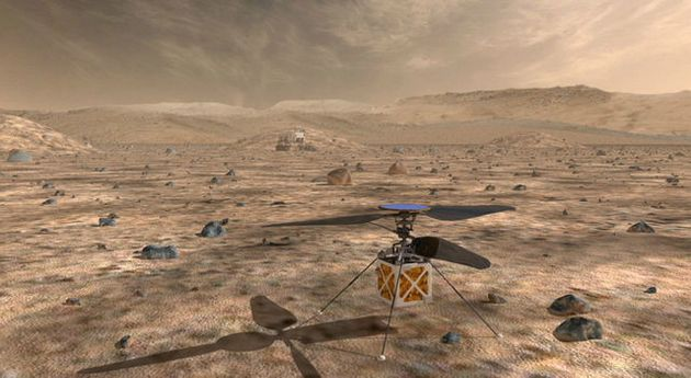 NASA's Mars Helicopter, a small, autonomous rotorcraft, will travel with the agency's Mars 2020