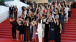 """Sur les marches de Cannes, Cate Blanchett, Agnès Varda et 80 femmes du cinéma réclament """"l'égalité salariale"""""""