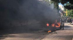 Επεισόδια εντός και εκτός γηπέδου στον τελικό Κυπέλλου. Οπαδοί της ΑΕΚ έκαψαν βαν με οπαδούς του