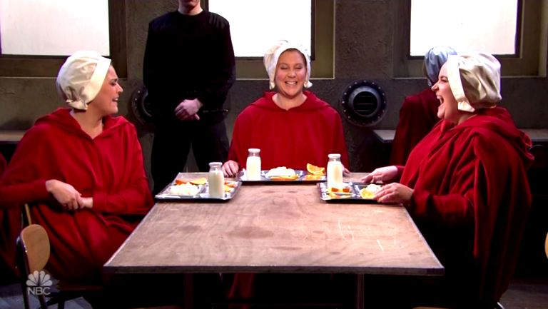 'Handmaid's Tale' Meets 'Sex And The City' In Funny, Terrifying 'SNL'