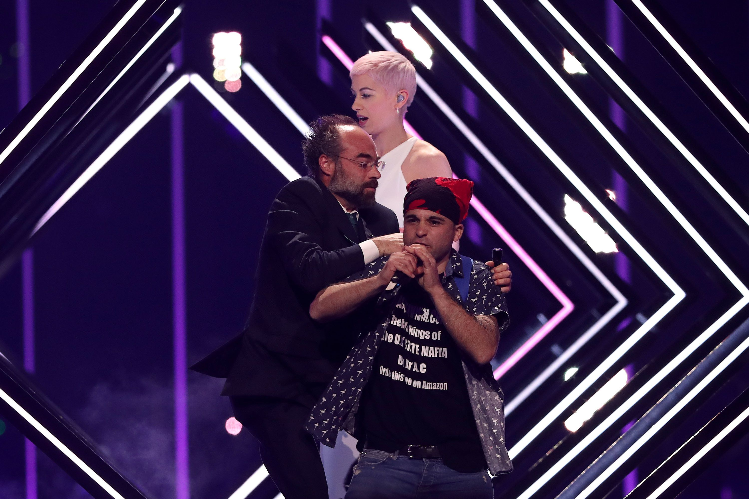 SuRie Makes Light Of Stage Invasion In First Tweet Since Eurovision Final