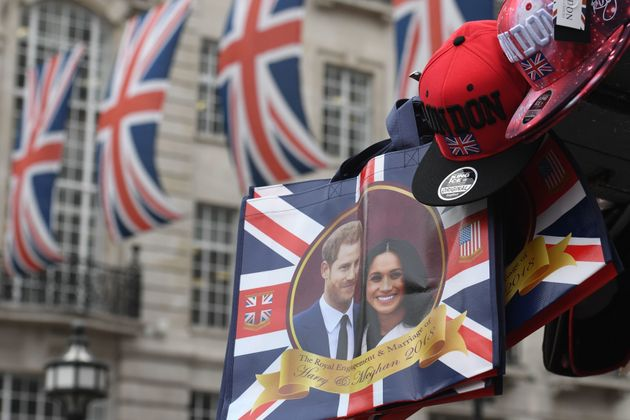 Regent Street, London, is decorated with Union Jack flags and memorabilia, ahead of the Royal
