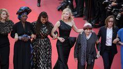 Κάννες: Η Cate Blanchett, επικεφαλής στην συμβολική «αλυσίδα» 82 ηθοποιών στο κόκκινο χαλί για μισθολογική