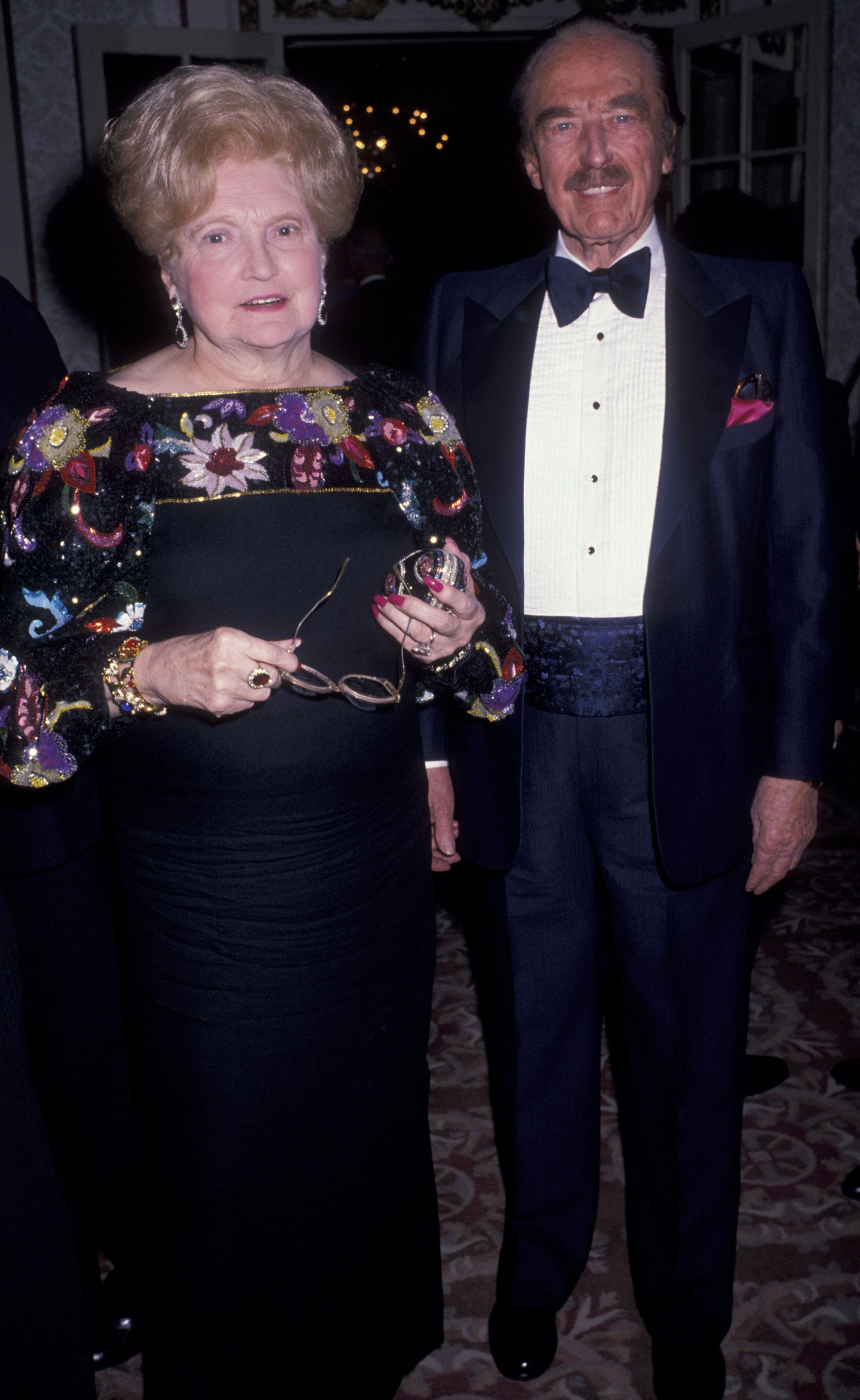 Donald Trump's parents,Mary MacLeod Trump and Fred Trump, at an awardsdinner in New York in 1999.