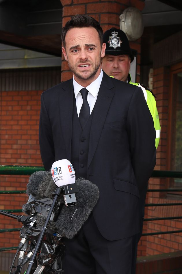Ant pled guilty to drink driving in court last