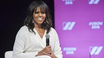 LOS ANGELES, CA - MAY 05:  Former First Lady of The United States Michelle Obama speaks on stage at The United State of Women Summit 2018 - Day 1 on May 5, 2018 in Los Angeles, California.  (Photo by Rodin Eckenroth/Getty Images)