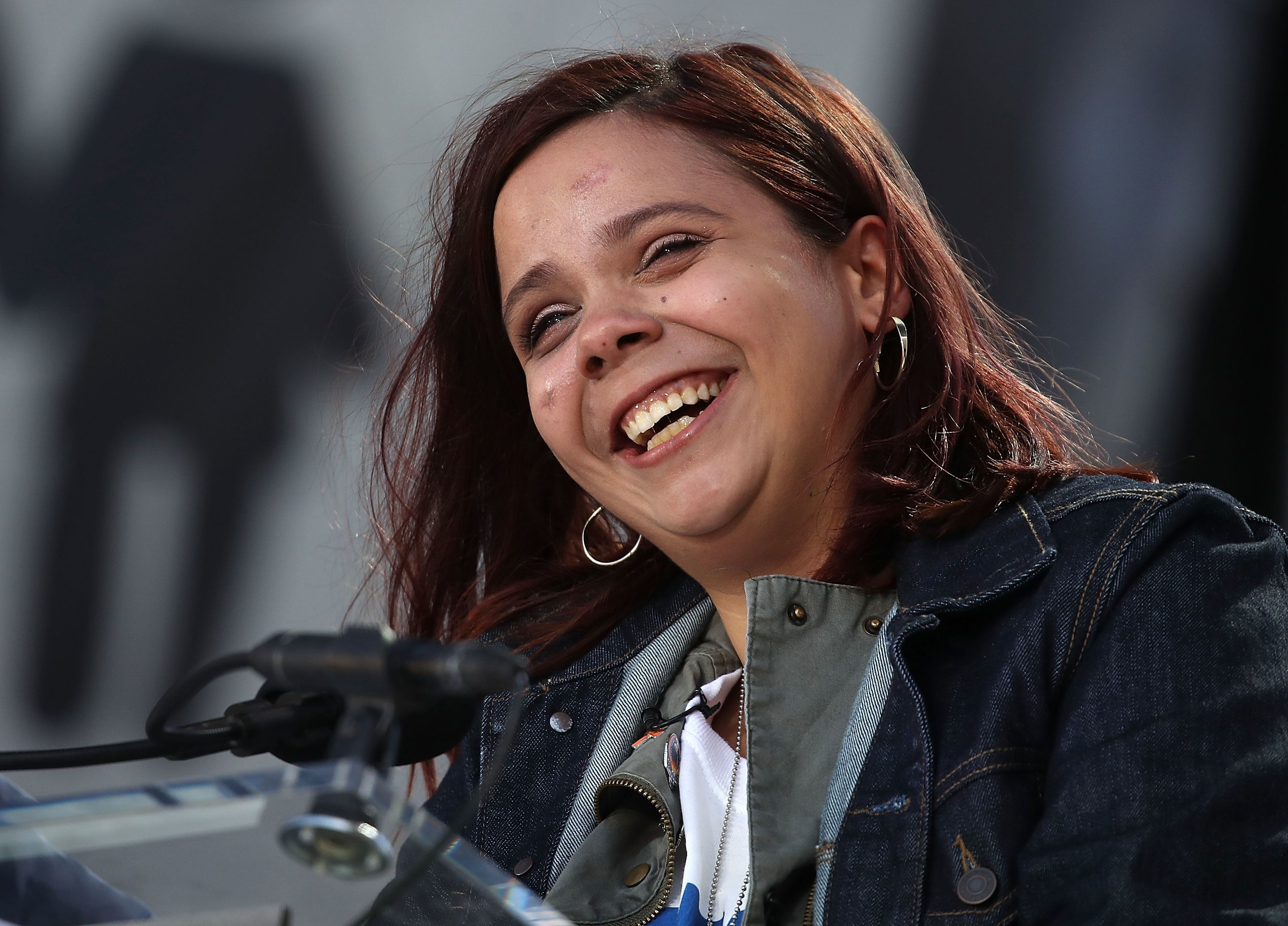 Fuentes speaks during the march for our life rally on March 24 in Washington