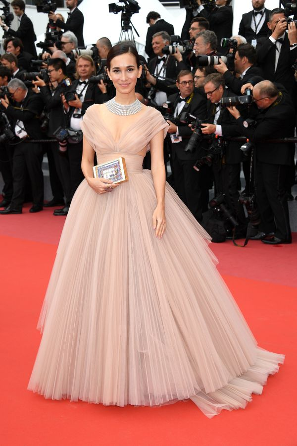 "Wearing Dior at the screening of ""Sorry Angel (Plaire, Aimer Et Courir Vite)"" on May 10."
