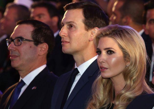 US-Finanzminister Mnuchin, Jared Kushner und Ivanka Trump am Sonntag in