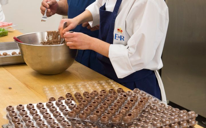 Chefs prepare truffles for the royal wedding.