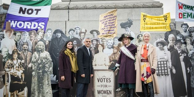 Justine Simons (far right) with Amika George, Sadiq Khan and Lucy Worsley