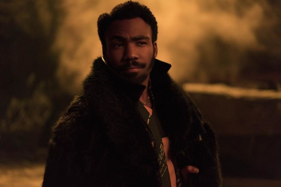 "Donald Glover as Lando Calrissian in ""Solo: A Star Wars Story."""