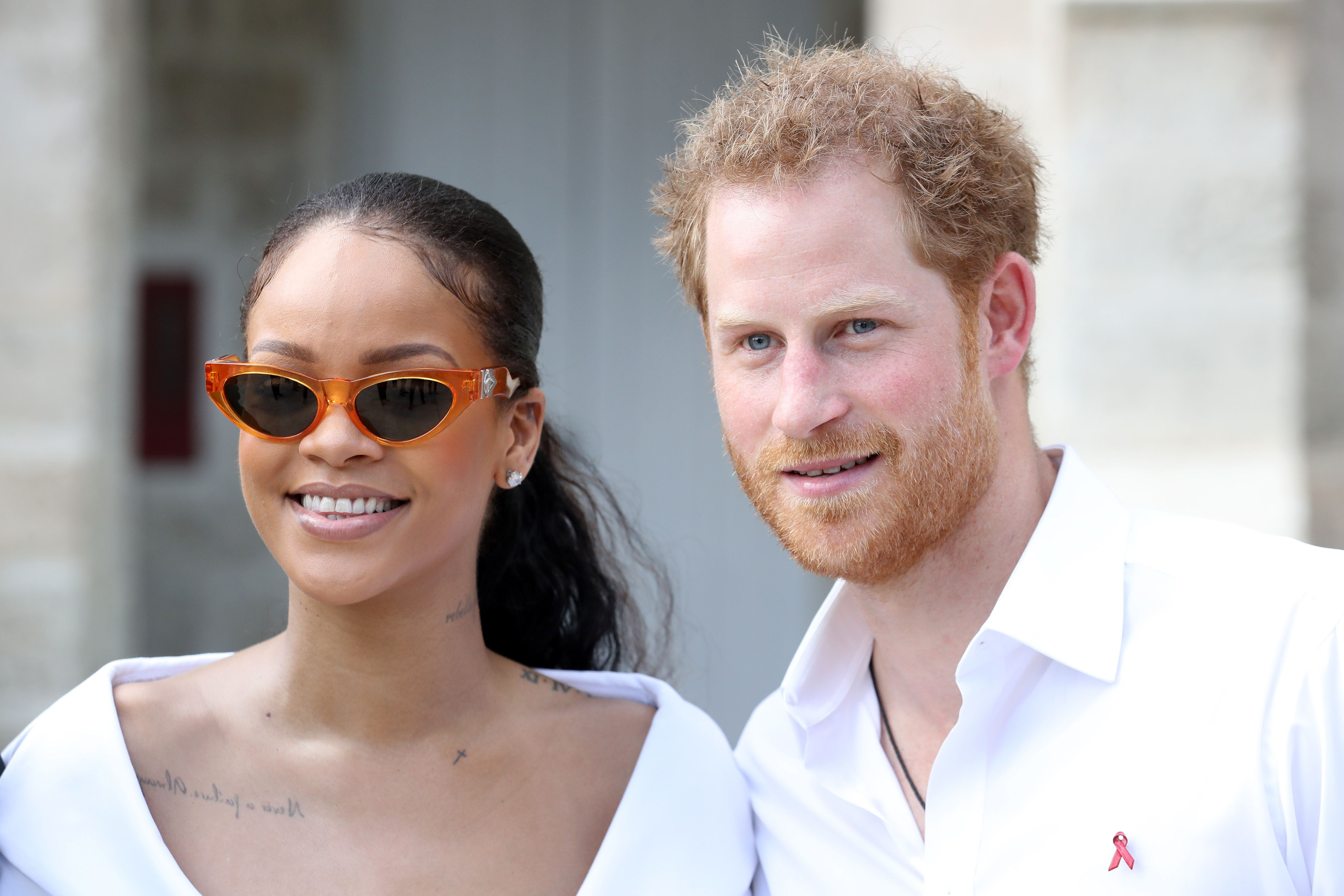 Rihanna and Prince Harryin Bridgetown, Barbados, in
