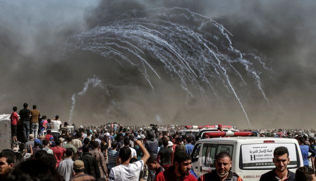 이스라엘군이 팔레스타인에 무차별 총격을