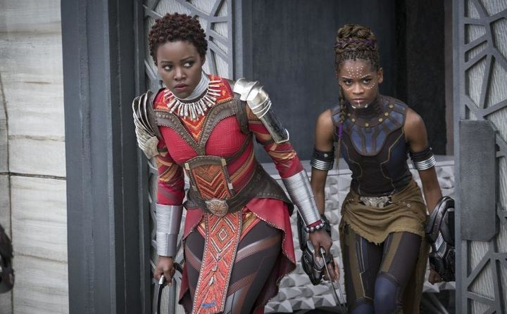 "Nakia (Lupita Nyong'o) andShuri (Letitia Wright) in ""Black Panther."""