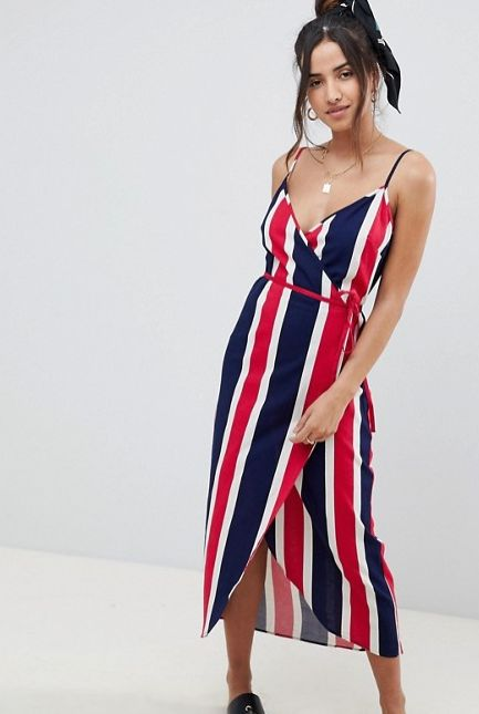 "<strong>Sizes</strong>: 0 to 14<br>Get it <a href=""http://us.asos.com/asos/asos-design-linen-wrap-side-maxi-dress-in-bold-str"