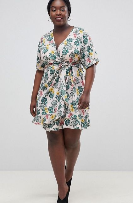 "<strong>Sizes</strong>: 14 to 24<br>Get it <a href=""http://us.asos.com/fashion-union-plus/fashion-union-plus-wrap-dress-in-tr"