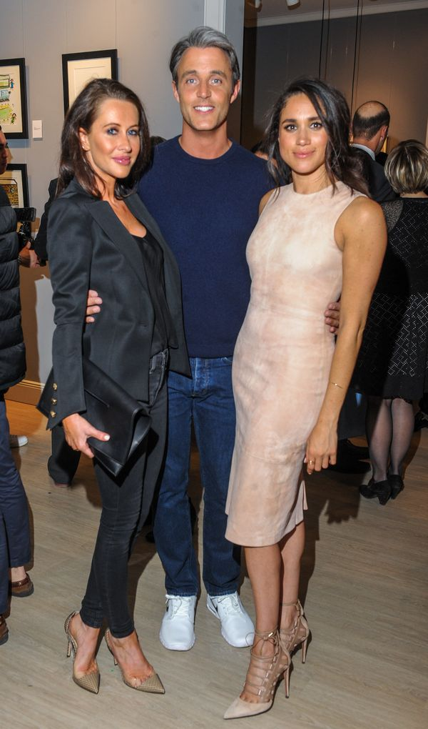 With her husband and Markle at the World Vision event held at Lumas Gallery in Toronto.
