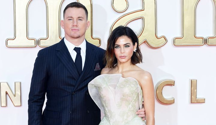 """Channing Tatum and Jenna Dewan Tatum attend the U.K. premiere of """"Kingsman: The Golden Circle."""""""