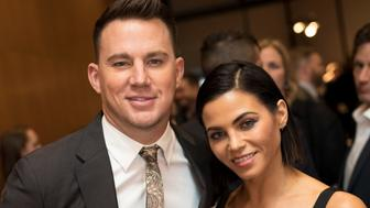 LOS ANGELES, CALIFORNIA - NOVEMBER 06:  Executive Producer Channing Tatum and wife Jenna Dewan Tatum attend the HBO And Army Ranger Lead The Way Fun Present The Premiere Of 'War Dog: A Soldier's Best Friend' after party at The Directors Guild Of America on November 6, 2017 in Los Angeles, California.  (Photo by Greg Doherty/Getty Images)