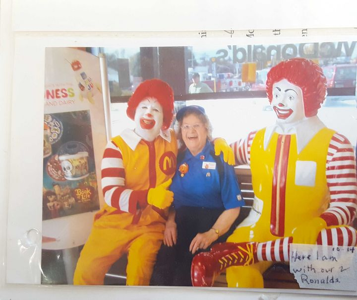 A photo from Alice Pirnie's McDonald's scrapbook.