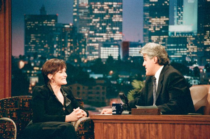 Margot Kidder with Jay Leno in November 1996.