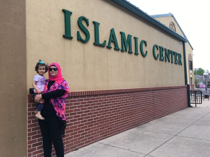 Suha Elqutt with her daughter