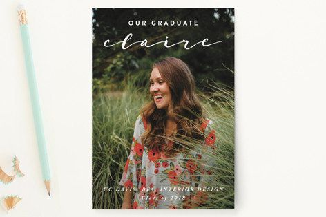 "55 Graduation Announcement Postcards at 1.38 ea. Get it on <a href=""https://www.minted.com/product/graduation-"