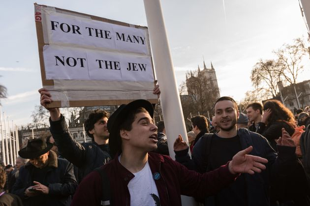 Jewish protestors in Parliament Square